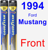 Front Wiper Blade Pack for 1994 Ford Mustang - Hybrid