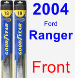 Front Wiper Blade Pack for 2004 Ford Ranger - Hybrid