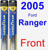 Front Wiper Blade Pack for 2005 Ford Ranger - Hybrid