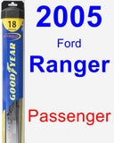 Passenger Wiper Blade for 2005 Ford Ranger - Hybrid