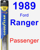 Passenger Wiper Blade for 1989 Ford Ranger - Hybrid