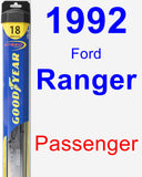 Passenger Wiper Blade for 1992 Ford Ranger - Hybrid