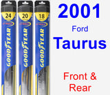 Front & Rear Wiper Blade Pack for 2001 Ford Taurus - Hybrid
