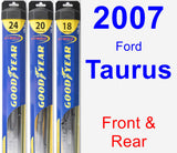 Front & Rear Wiper Blade Pack for 2007 Ford Taurus - Hybrid