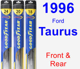 Front & Rear Wiper Blade Pack for 1996 Ford Taurus - Hybrid