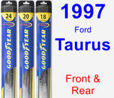 Front & Rear Wiper Blade Pack for 1997 Ford Taurus - Hybrid