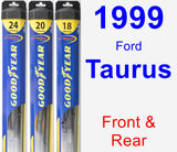 Front & Rear Wiper Blade Pack for 1999 Ford Taurus - Hybrid