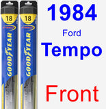 Front Wiper Blade Pack for 1984 Ford Tempo - Hybrid