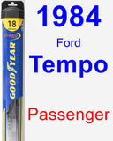 Passenger Wiper Blade for 1984 Ford Tempo - Hybrid