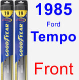 Front Wiper Blade Pack for 1985 Ford Tempo - Hybrid
