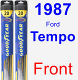 Front Wiper Blade Pack for 1987 Ford Tempo - Hybrid