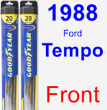 Front Wiper Blade Pack for 1988 Ford Tempo - Hybrid