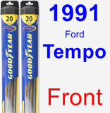 Front Wiper Blade Pack for 1991 Ford Tempo - Hybrid