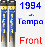 Front Wiper Blade Pack for 1994 Ford Tempo - Hybrid