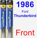 Front Wiper Blade Pack for 1986 Ford Thunderbird - Hybrid