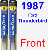 Front Wiper Blade Pack for 1987 Ford Thunderbird - Hybrid