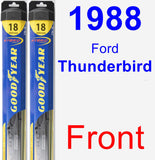 Front Wiper Blade Pack for 1988 Ford Thunderbird - Hybrid