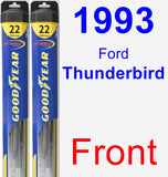 Front Wiper Blade Pack for 1993 Ford Thunderbird - Hybrid