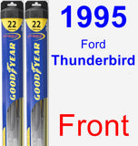 Front Wiper Blade Pack for 1995 Ford Thunderbird - Hybrid