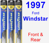 Front & Rear Wiper Blade Pack for 1997 Ford Windstar - Hybrid
