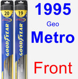 Front Wiper Blade Pack for 1995 Geo Metro - Hybrid