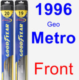 Front Wiper Blade Pack for 1996 Geo Metro - Hybrid