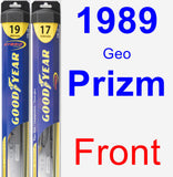 Front Wiper Blade Pack for 1989 Geo Prizm - Hybrid