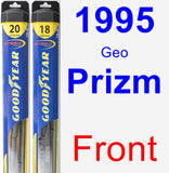 Front Wiper Blade Pack for 1995 Geo Prizm - Hybrid
