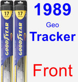 Front Wiper Blade Pack for 1989 Geo Tracker - Hybrid