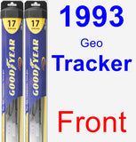 Front Wiper Blade Pack for 1993 Geo Tracker - Hybrid