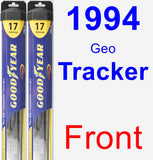 Front Wiper Blade Pack for 1994 Geo Tracker - Hybrid