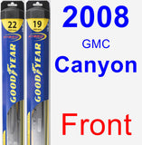 Front Wiper Blade Pack for 2008 GMC Canyon - Hybrid