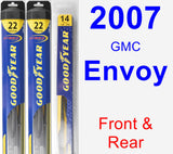 Front & Rear Wiper Blade Pack for 2007 GMC Envoy - Hybrid