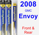 Front & Rear Wiper Blade Pack for 2008 GMC Envoy - Hybrid