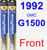 Front Wiper Blade Pack for 1992 GMC G1500 - Hybrid