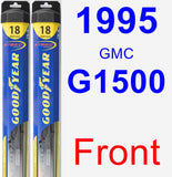 Front Wiper Blade Pack for 1995 GMC G1500 - Hybrid