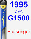 Passenger Wiper Blade for 1995 GMC G1500 - Hybrid
