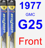 Front Wiper Blade Pack for 1977 GMC G25 - Hybrid