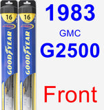 Front Wiper Blade Pack for 1983 GMC G2500 - Hybrid