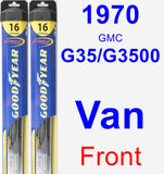 Front Wiper Blade Pack for 1970 GMC G35/G3500 Van - Hybrid