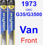 Front Wiper Blade Pack for 1973 GMC G35/G3500 Van - Hybrid