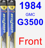 Front Wiper Blade Pack for 1984 GMC G3500 - Hybrid