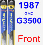Front Wiper Blade Pack for 1987 GMC G3500 - Hybrid