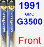 Front Wiper Blade Pack for 1991 GMC G3500 - Hybrid