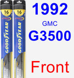 Front Wiper Blade Pack for 1992 GMC G3500 - Hybrid
