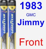 Front Wiper Blade Pack for 1983 GMC Jimmy - Hybrid