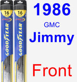 Front Wiper Blade Pack for 1986 GMC Jimmy - Hybrid