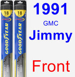Front Wiper Blade Pack for 1991 GMC Jimmy - Hybrid