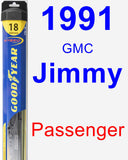 Passenger Wiper Blade for 1991 GMC Jimmy - Hybrid