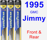 Front & Rear Wiper Blade Pack for 1995 GMC Jimmy - Hybrid